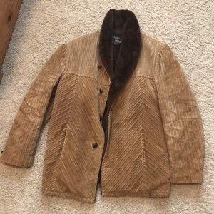 Vintage fur lined corduroy coat
